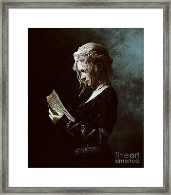 Framed Print featuring the digital art The Word by Shanina Conway