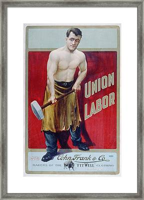 The Words Union Labor Are Prominently Framed Print by Everett