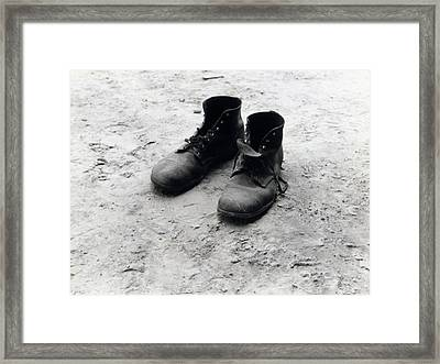 The Work Boots Of Foyd Burroughs Framed Print