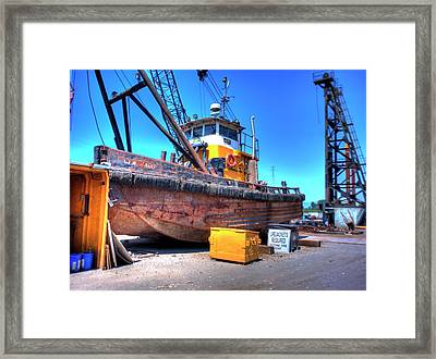 The Workboat Framed Print