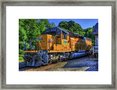 The Workhorse Squaw Creek Southern Rail Road Locomotive Art Framed Print