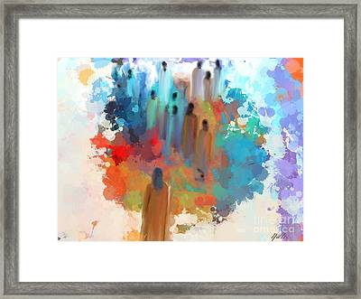 In Search Of A Better World . Framed Print by Aline Halle-Gilbert