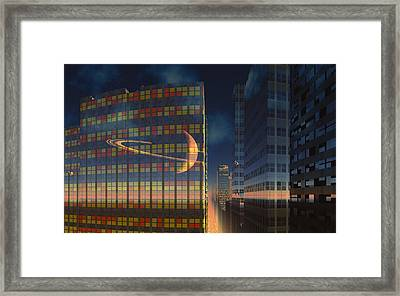 The World Below The Rings Framed Print by David Jackson