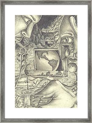 The World Cries Framed Print by Karen Musick