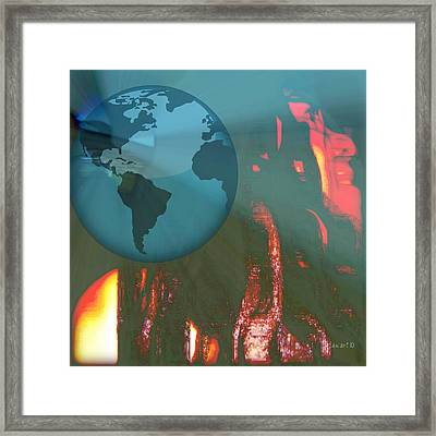 The World Is Mine Framed Print by Fania Simon
