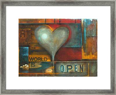 The World Is Now Open Framed Print by Stephen Schubert