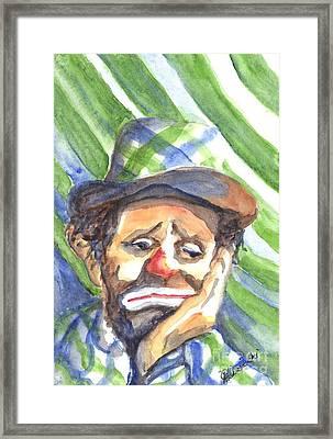 The World Loves A Clown Framed Print by Carol Wisniewski