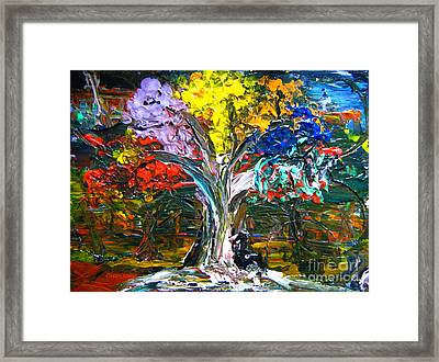 The World Moves For Love By Colleen Ranney Framed Print