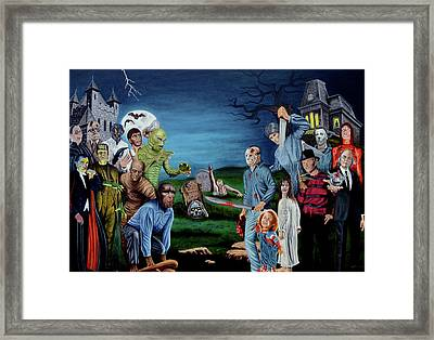 The World Of Classic Horror Framed Print