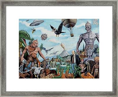 The World Of Ray Harryhausen Framed Print by Tony Banos