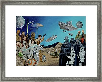The World Of Star Wars Framed Print by Tony Banos