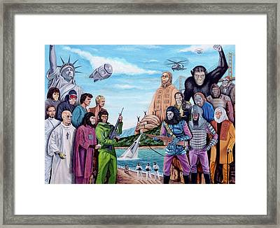 The World Of The Planet Of The Apes Framed Print by Tony Banos