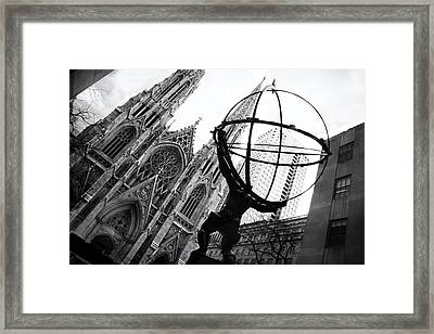 The World On His Shoulders Framed Print
