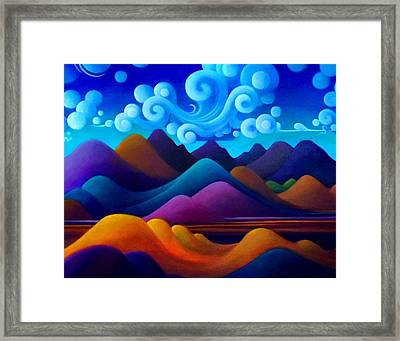 Framed Print featuring the painting The World There In Motion by Richard Dennis