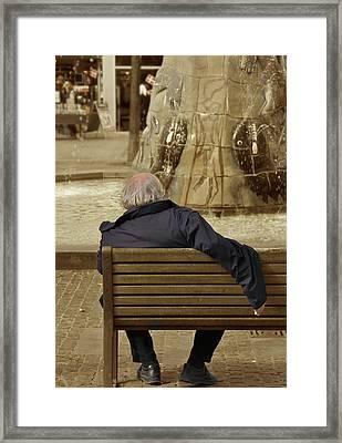 The World Turns Framed Print by Odd Jeppesen