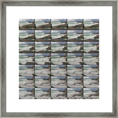 The Worm Hole Water Behavior Sequence Framed Print