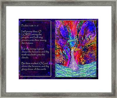 The Worshipping Heart And The Anointing Of Colors Framed Print by Cassandra Donnelly