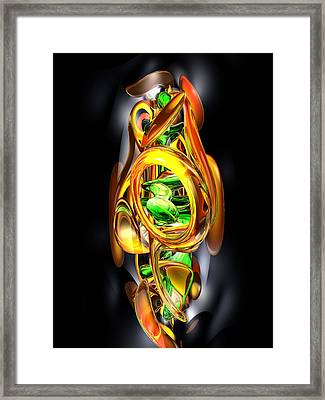 The Wraith Abstract Framed Print by Alexander Butler