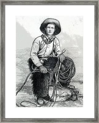 The Wrangler Framed Print by Karon Melillo DeVega