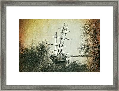 The Wreck Of La Grande Hermine Framed Print by Bill Cannon