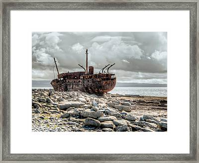 The Wreck Of Plassey Framed Print by Natasha Bishop