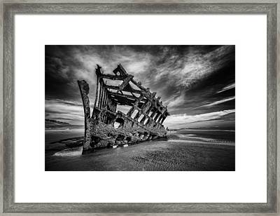 The Wreck Of The Peter Iredale Framed Print