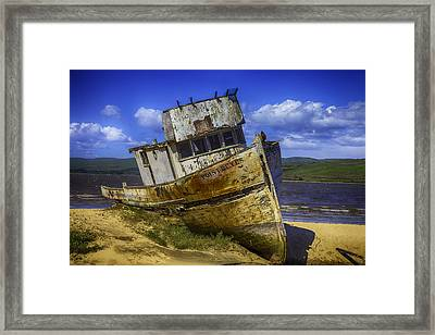 The Wreck Of The Point Reyes Framed Print by Garry Gay
