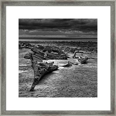 The Wreck Of The Steam Trawler Framed Print