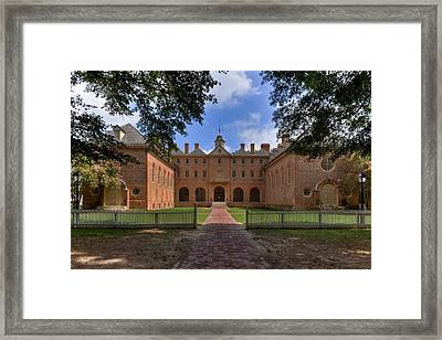 The Wren Building At William And Mary Framed Print