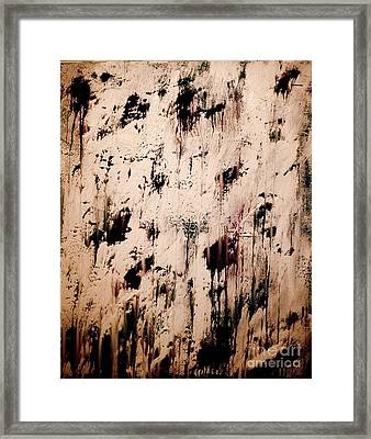 The Writing On The Wall Framed Print by Catalina Walker