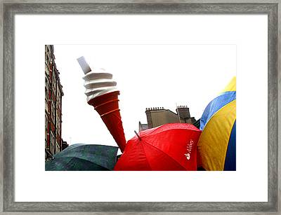 The Wrong Day For Ice Cream Framed Print by Jez C Self