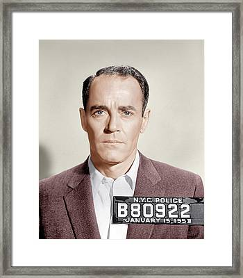 The Wrong Man, Henry Fonda, 1956 Framed Print by Everett