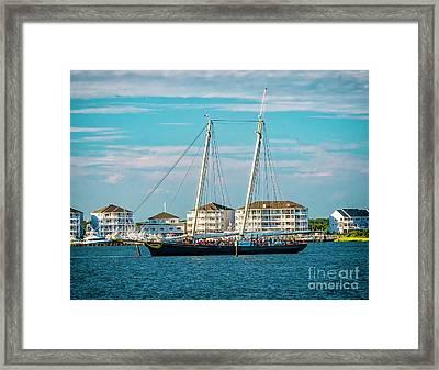 The Yacht America Framed Print by Nick Zelinsky