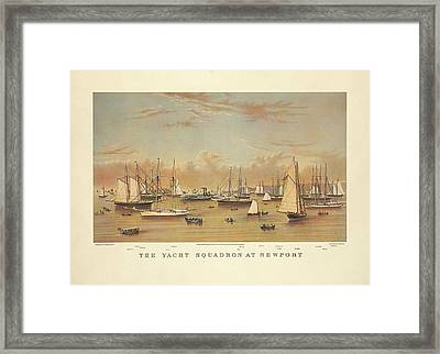 The Yacht Squadron At Newport Framed Print