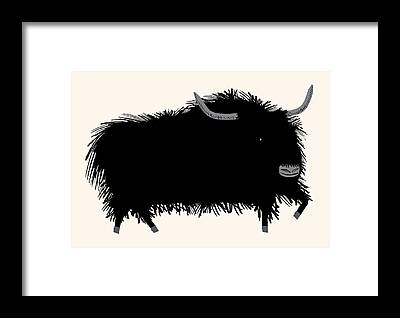 Yak Framed Prints