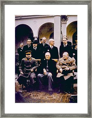 The Yalta Conference, Seated Joseph Framed Print by Everett