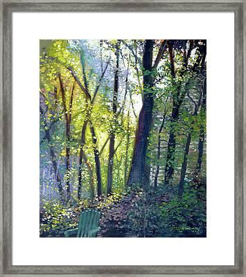 The Yard - Summer Dawn Framed Print by Gregg Hinlicky