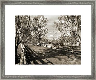 Framed Print featuring the photograph The Yards by Linda Lees