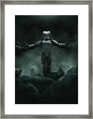 The Yautjatrooper Framed Print by Guillem H Pongiluppi