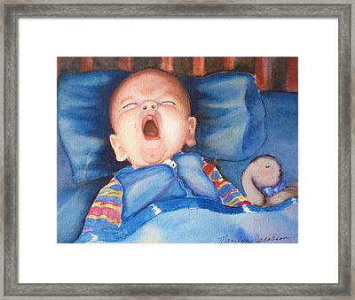 The Yawn Framed Print by Marilyn Jacobson