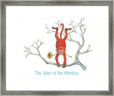 The Year Of The Monkey Framed Print by Nonna Mynatt