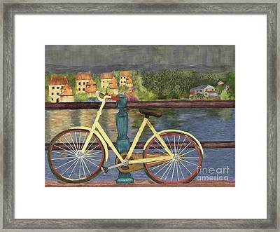 The Yellow Bicycle  Framed Print by Sydne Archambault