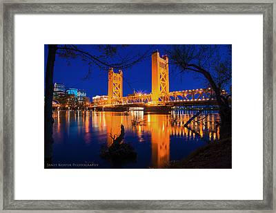 The Yellow Bridge  Framed Print
