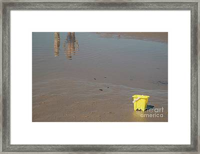 The Yellow Bucket Framed Print