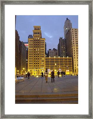 The Yellow Building Framed Print by Anna Villarreal Garbis