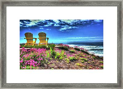 The Yellow Chairs By The Sea Version 2 Framed Print