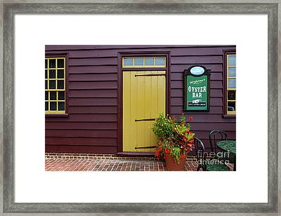 The Yellow Door In Annapolis Framed Print