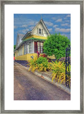 The Yellow House Framed Print by Nadia Sanowar