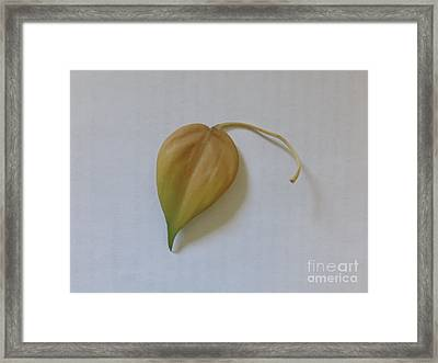 The Yellow Leaf - Homage To Macbeth Framed Print