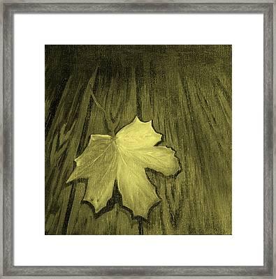 The Yellow Leaf Framed Print by Ninna